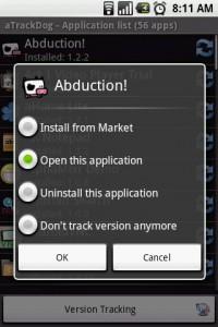 aTrackDog App Tracking Options
