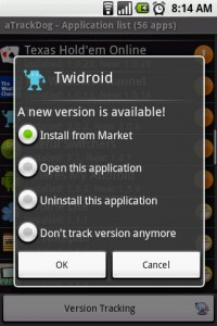 aTrackDog App Tracking Options - New Version Found