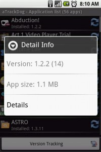 aTrackDog App Detail Info
