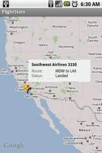 FlightStats Track Flight on Google Maps