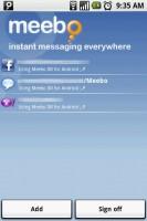 Meebo IM Account Start Screen