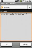 Meebo IM Set Status Message