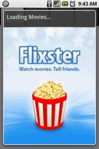 Movies by Flixster Splash Screen