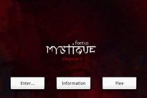 Mystique. Chapter 1: Foetus - Start Screen