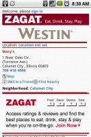 nru Zagat Information for nearby Macy's
