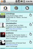 TwitterRide Friends Timeline