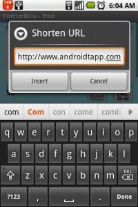 TwitterRide URL Shortener