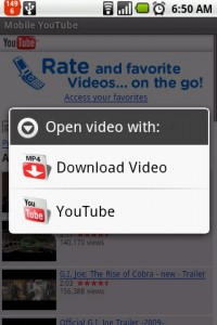 YouTube Downloader Open Video with Options