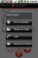 Aloqa Menu Actions