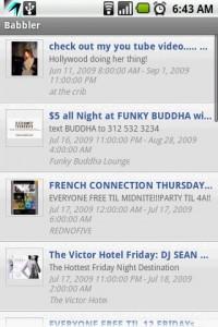 Babbler for Facebook Friends Events