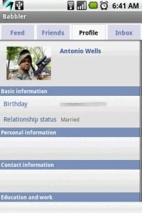 Babbler for Facebook Profile