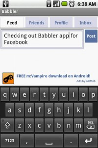 Babbler for Facebook Write on Walll Feed