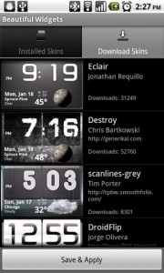 Beautiful Widgets Skins