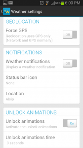 Beautiful Widgets Weather Settings 2