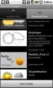 Beautiful Widgets Weather Skins