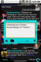 CuTewit Sending Twit