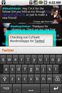 CuTewit Typing Twit