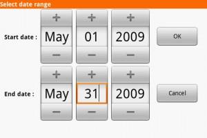 DroidAnalytics Select Date Range