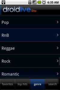DroidLive Genre