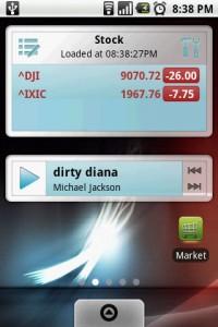 FreshFace Stock and Music Widgets
