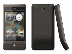 HTC Hero in Bronze Front Back and Side Views
