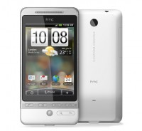 HTC Hero in White Front and Back Views