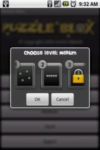 Puzzle Blox Choose Level