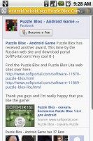 Puzzle Blox Online Community page on Facebook