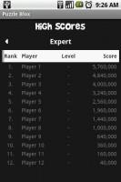 Puzzle Blox Online High Scores