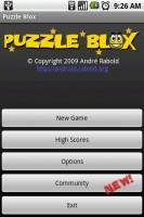 Puzzle Blox Start Menu