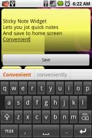Sticky Note Widget Typing Note