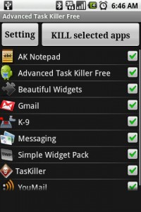 Advanced Task Killer List of Apps and Processes