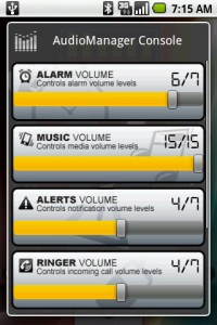 AudioManager Widget Console