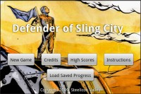 Defender of Sling City Start Screen