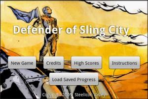 Defender of Sling City Start Screen
