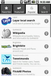 Layar Popular Modules
