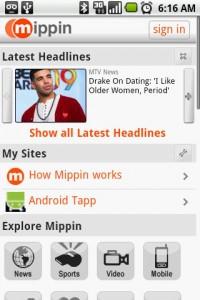Mippin Start Page