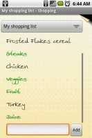 OI Shopping List Items Checked