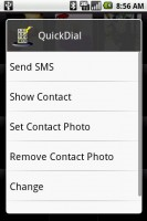 QuickDial Contact Actions