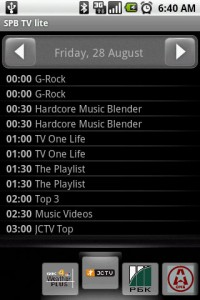 SPB TV Channel Preview Guide by Date