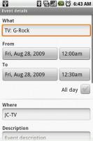 SPB TV Save TV Reminder Event Directly to Google Calendar