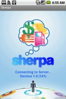Sherpa Start Screen