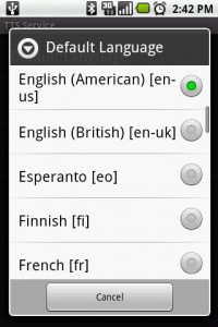 Text-to-Speech Library Language Options