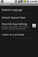 Text-to-Speech Library Settings