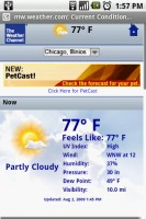 The Weather Channel Widget Weather on Mobile Website