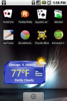 The Weather Channel Widget on Home Screen
