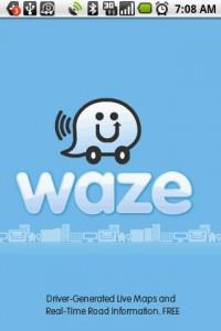 Waze Start Screen