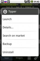 AppManager by CurveFish Actions Menu