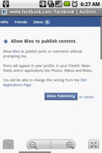 Bloo Plagued by Annoying Facebook Permissions 2