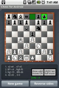 Chess for Android in Game Play